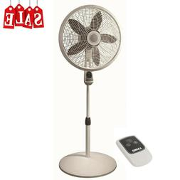 "18"" in Stand Oscillating Pedestal Fan Quiet with Remote Co"