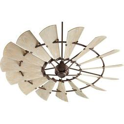 Quorum 197215-86 Windmill Ceiling Fan in Oiled Bronze with U
