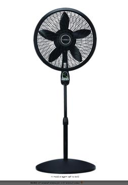 Pedestal Fan Adjustable-Height 18 in. Oscillating with Remot