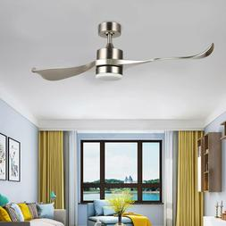 52-Inch Moden Ceiling Fan with Remote Low Profile 2-Blade AB