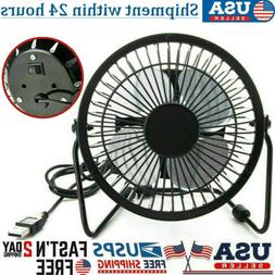 4'' Desk Table Fan Personal USB Small Air Circulator Quiet M