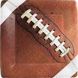Amscan Football Fan Birthday Party Square Dinner Plates , Br