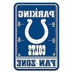 Indianapolis Colts FAN ZONE Large 12x18 Plastic Wall Parking