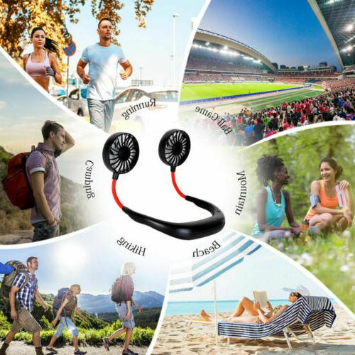 Portable USB Rechargeable Neckband Dual Cooling