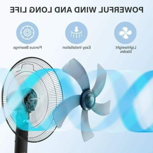Simple Deluxe 16 Inch Stand Fan with Remote Control