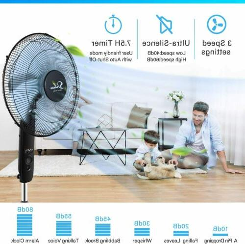 Simple Deluxe Inch Stand Fan with Control