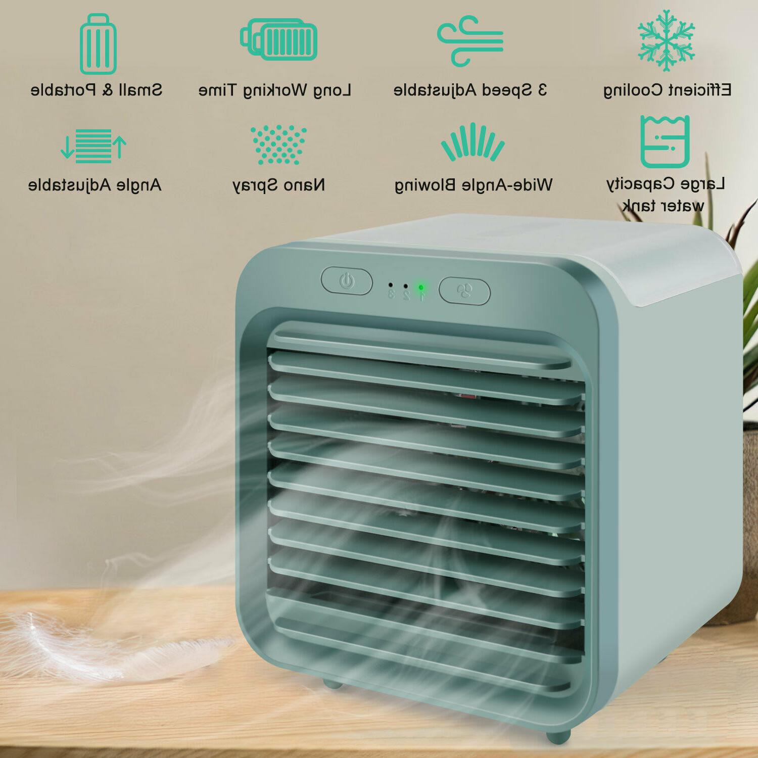 Portable Mini Air Conditioner Cooler Cooling USB Fan Humidif