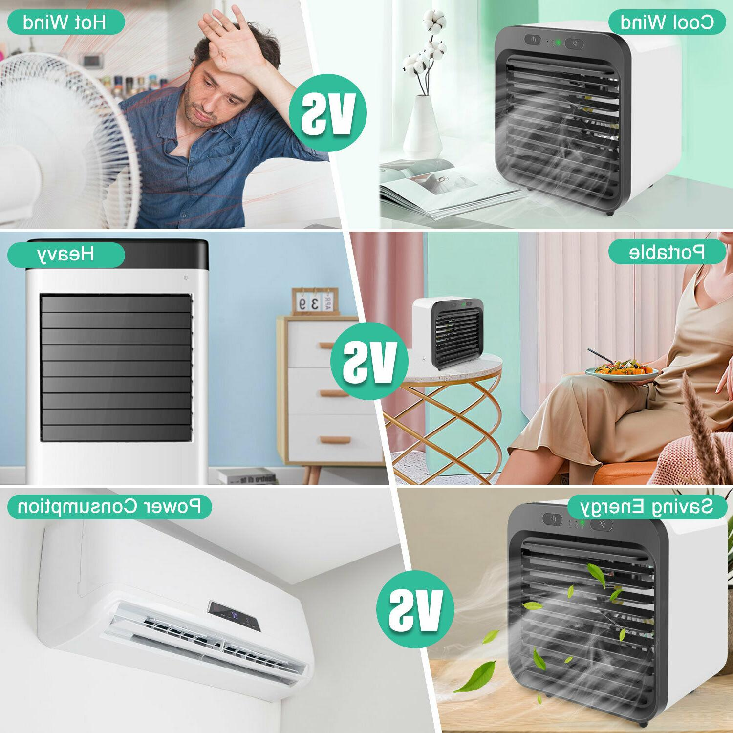 Portable Cooler Cooling Humidifier Purifier US