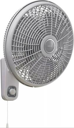 New 3-Speed Oscillating Wall Mount Lasko Fan with Remote Con
