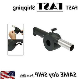 Outdoor Cooking Hand Crank Powered Barbecue BBQ Fan Air Blow
