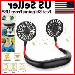 Portable Hanging Neck Fan Sport Lazy Neckband USB Rechargeab