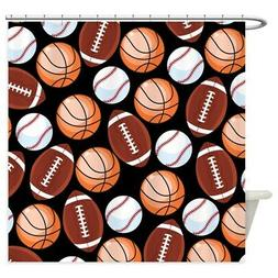 CafePress Sports Fan Collage Shower Curtain