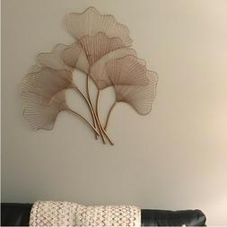 Wall Art Decoration Wire Fan Leaves Metal Art Wall Hanging D
